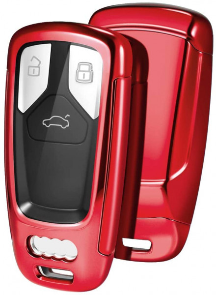 Husa Cheie Audi SmartKey TPU+PC Rosie