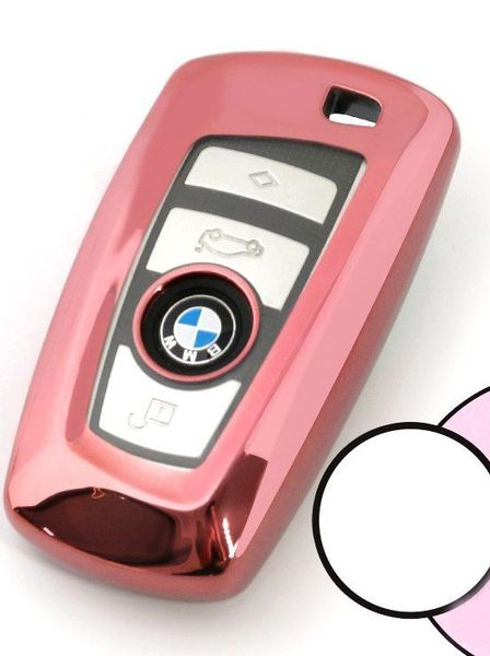 Husa Cheie Smartkey BMW 3/4 Butoane ROZ TPU+PC BMW Seria F