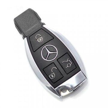 Carcasa Cheie Smartkey Mercedes Benz 3 Butoane Cromat Model nou