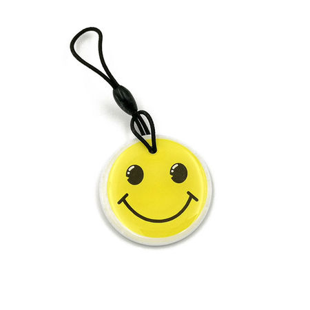 Cartela Interfon Tag EM4305 Clonabil din Epoxy - SET 10 Bucati - Smiley Model 1
