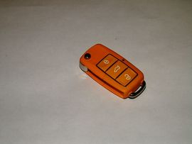Carcasa Cheie Briceag VW 3 Butoane Galben Design NOU