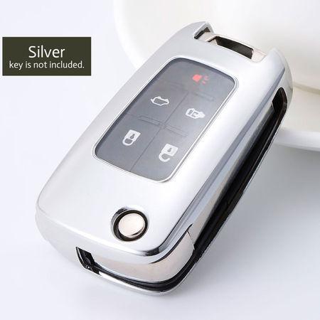 Husa Cheie Auto OPEL TPU+PC Silver Cheie Briceag (Insignia, Astra J)