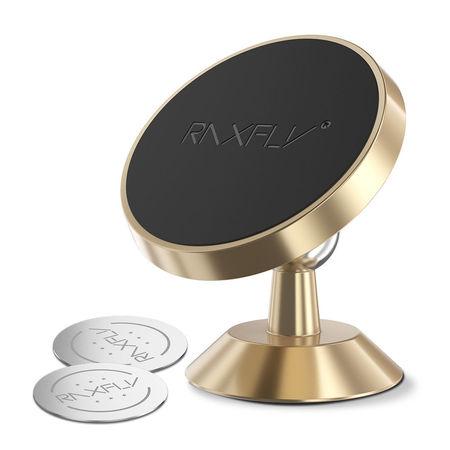 Suport Stand Adeziv 360° Gold Pentru Telefon Universal Auto