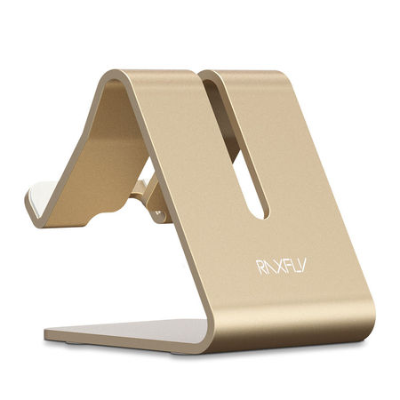 Suport Telefon Birou Metalic Auriu
