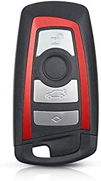 Carcasa Cheie BMW smartkey 4 Butoane pentru SERIA F - Contur Rosu