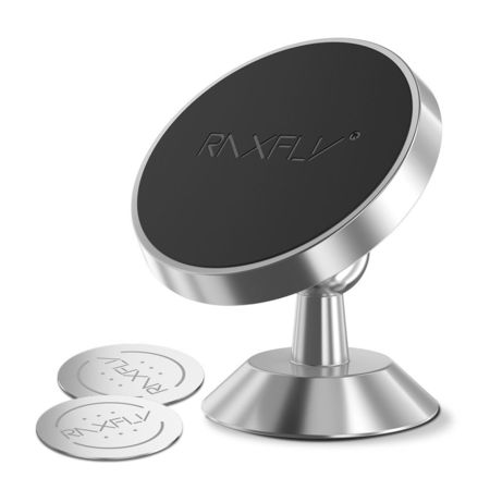 Suport Stand Adeziv 360° Argintiu Pentru Telefon Universal Auto
