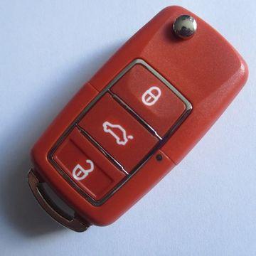 Carcasa Cheie Briceag VW 3 Butoane ROSU Design NOU