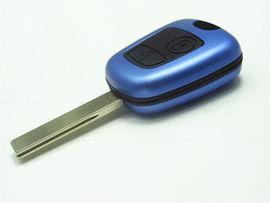 Carcasa Cheie Peugeot 307 2 Butoane Albastru Metalic