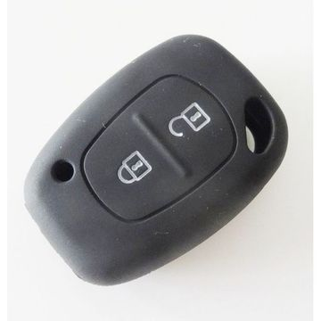 Husa Cheie Renault Traffic / Dacia Solenza 2 Butoane Silicon Neagra