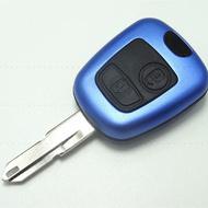 Carcasa Cheie Peugeot 206 2 Butoane Culoarea Albastru
