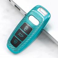 Husa Cheie Audi Q8 A8 SmartKey TPU+PC Albastru Verzui Carbon