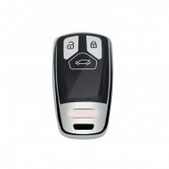 Husa Cheie Audi SmartKey TPU+PC GRI+Negru