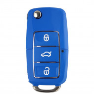 Carcasa Cheie Briceag VW 3 Butoane Albastru Design Nou