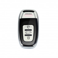 Husa Cheie Smartkey Audi 3 Butoane GRI+Negru TPU+PC Audi A6 A7 A8 4G