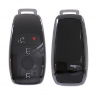 Husa Cheie Smartkey Mercedes Benz 3 Butoane Neagra TPU+PC Model Nou