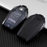 Husa Cheie Inteligenta BMW cu display TPU NEAGRA ( BMW SERIA 7, X5,X6 )