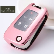 Husa Cheie Auto CHEVROLET TPU+PC Pink Cheie Briceag (Chevrolet Cruze, Chevrolet Malibu)