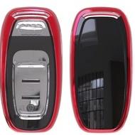 Husa Cheie Smartkey Audi 3 Butoane ROSIE TPU+PC Audi A6 A7 A8 4G
