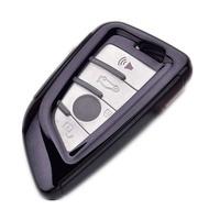 Husa Cheie Smartkey BMW 3/4 Butoane Seria G NEAGRA TPU+PC