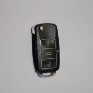 Carcasa Cheie Briceag VW 3 Butoane Chrom-Negru Design NOU