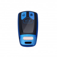 Husa Cheie Audi SmartKey TPU+PC ALBASTRU+Negru