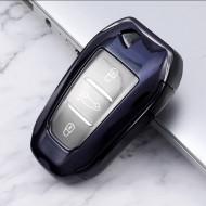 Husa Cheie Auto Peugeot SMARTKEY TPU+PC NEAGRA