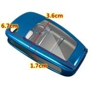 Husa Cheie Briceag Audi 3 Butoane Albastra TPU+PC