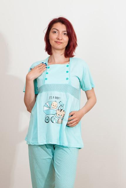 """Pijama pentru alăptat """" bebe cărucior """""""