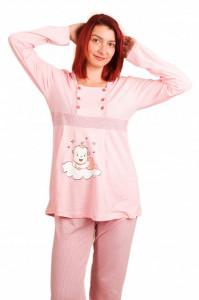 """Pijama pentru alăptat """"cu bebe nor"""" diverse culori"""