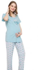 """Pijama pentru alăptat cu """"elefant"""" bleu"""