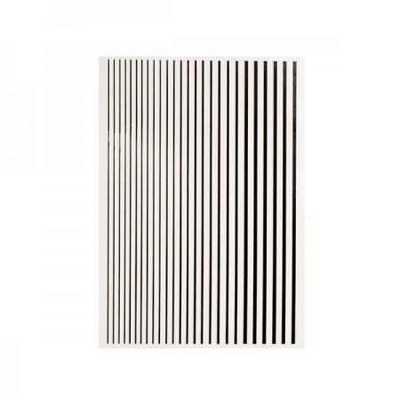 MAGIC STRIPES STICKER - BLACK kép