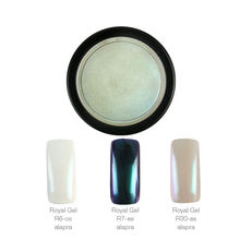 Crystal Nails ChroMirror króm pigmentpor Shiny Pearl 2