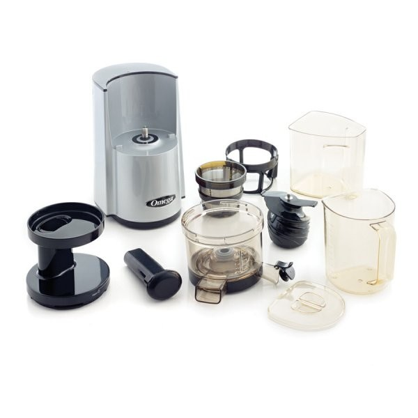 Omega Vsj843rs Slow Juicer : Omega vSJ843RS Slow Juicer (argintiu)- Storcator prin presare la rece