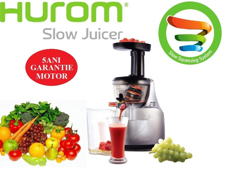 Hurom Slow Juicer He Dbe04 : Storcator Hurom Slow Juicer HE-DBE04 Argintiu, 5Ani Garantie, presare la rece- Produs Original