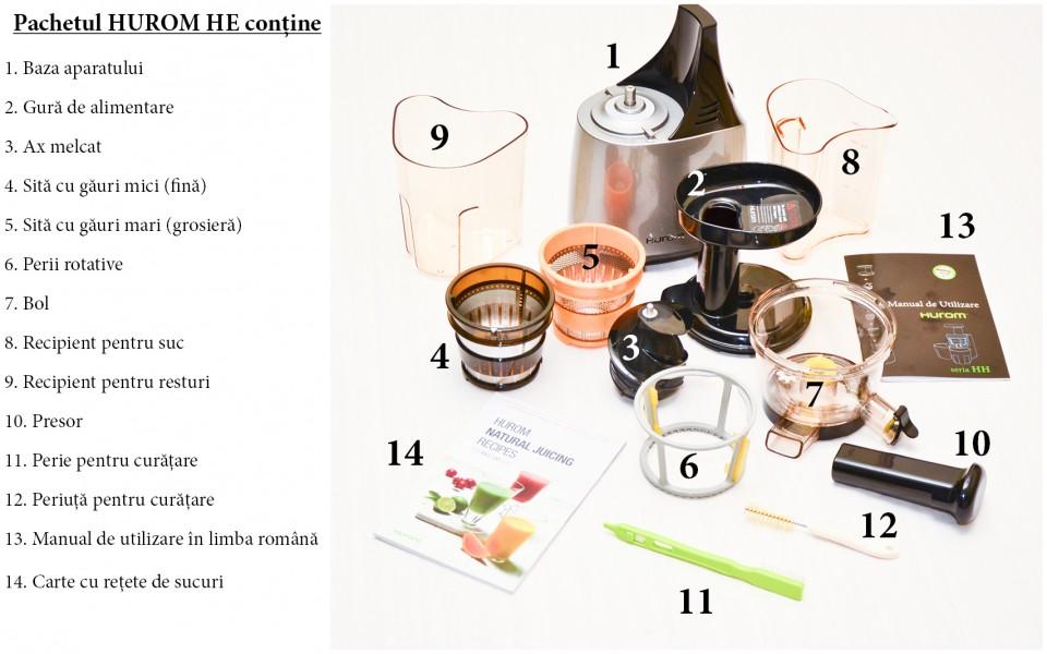Storcator Hurom Slow Juicer HE-DBE04 Argintiu, 5Ani Garantie