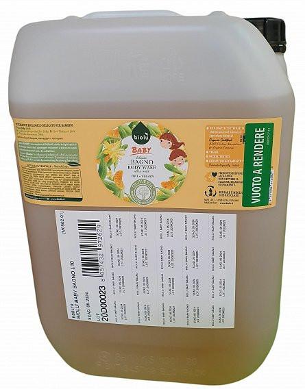Poze Biolu Gel de dus ecologic cu ulei de mandarin pentru copii 10L