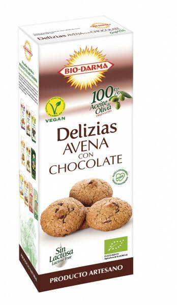 Poze Biscuiti din ovaz cu ciocolata bio 125g Bio Darma