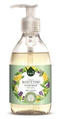 Poze Sapun lichid ecologic antibacterian cu lavanda si Vitamina E 300ml pentru fata si maini