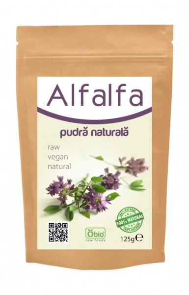 Poze Alfalfa (lucerna) pulbere verde 125g- Produs recomandat de Ligia Pop