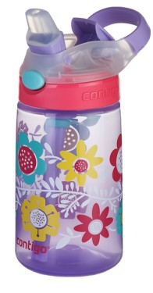 Poze Cana cu pai pentru copii Contigo Gizmo Flip 420 ml, BPA free- Wisteria Flowers On the Vinte