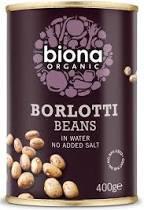 Poze Fasole pestrita Borlotti bio 400g Biona fara sare