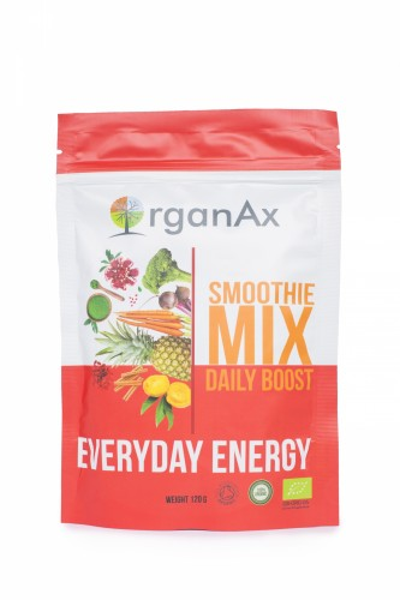 Poze Pudra proteica, Daily Boost, iarba de grau, spirulina si chlorella, OrganAx, 120 g