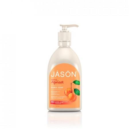 Poze Sapun organic lichid cu caise, hidratant, pentru fata si maini, 473ml. Jason