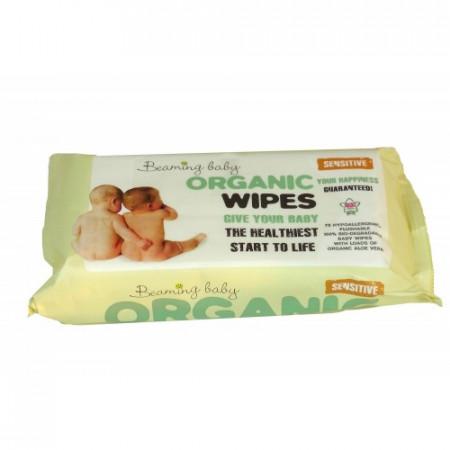 Poze Servetele umede certificate organic Beaming Baby 72 buc.