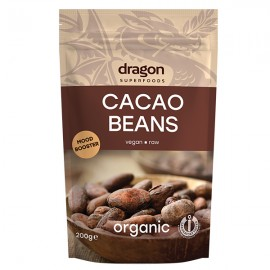 Poze Boabe de cacao intregi bio Dragon Superfoods 200g