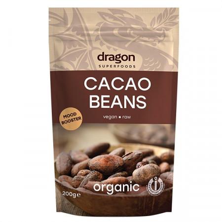 Poze Boabe de cacao intregi bio Dragon Superfoods 200g
