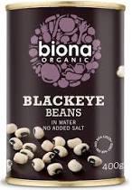 Poze Fasole alba blackeye bio 400g Biona