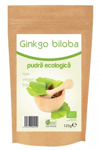 Poze Ginkgo biloba pudra raw bio 125g