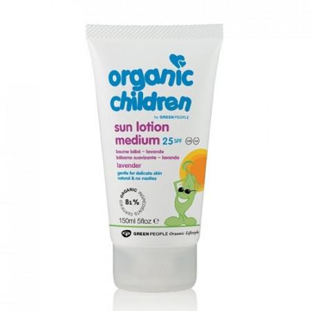 Poze Lotiune organica copii protectie solara, levantica SPF25, Green People 150ml