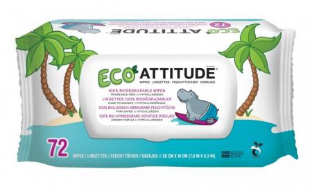 Poze Servetele bio umede pentru bebelusi 100 % biodegradabile Attitude 72 buc